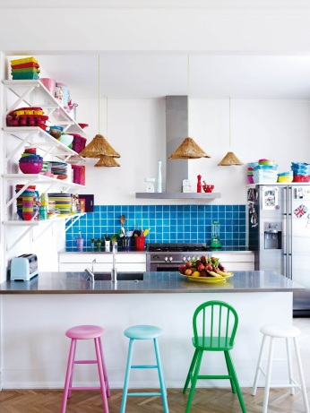 Bright Pastel Kitchen