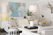 White with hits of pastels